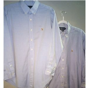 POLO BY RALPH LAUREN (2) MEN'S 16 32-33 SHIRTS